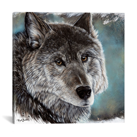 "Loyal Spirit Wolf (12""W x 12""H x 0.75""D)"