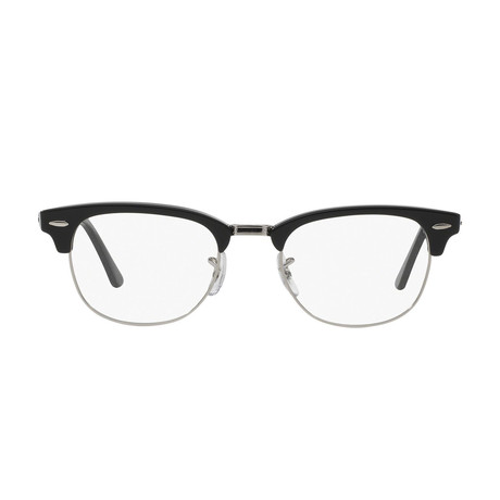 Ray-Ban // Men's Clubmaster Optical Frames // Black + Silver