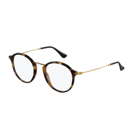 Men's 0RX2447 Round Optical Frames // Tortoise + Gold