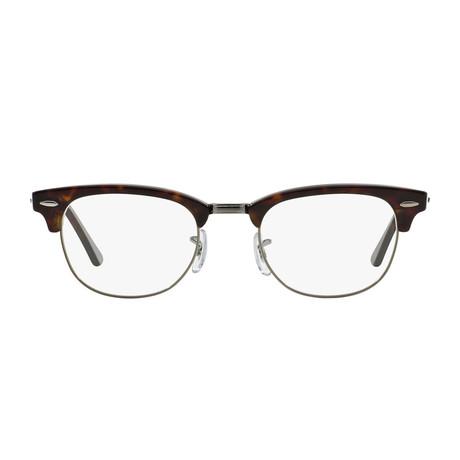 Ray-Ban // Men's Clubmaster Optical Frames // Dark Havana + Silver