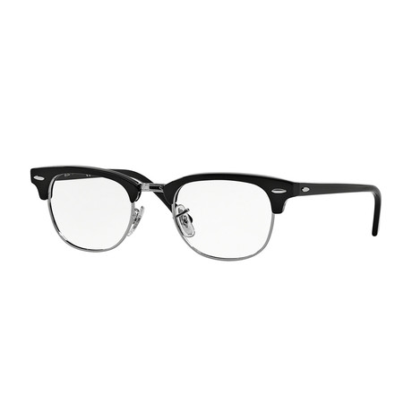 Men's Clubmaster Optical Frame // Black + Silver