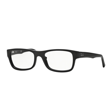 Men's 0RX5268 Rectangle Optical Frames // Black