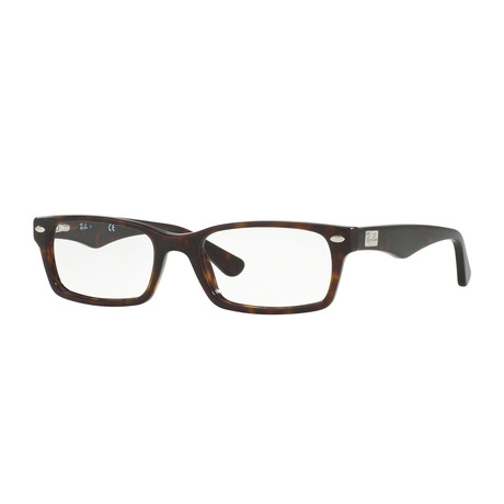 Men's 0RX5206 Rectangle Optical Frames // Havana