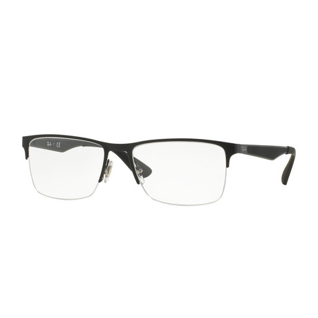 Men's Half Rim Optical Frame // Black
