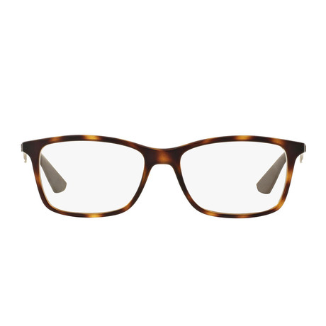 Ray-Ban // Men's Rectangle Optical Frame // Matte Havana
