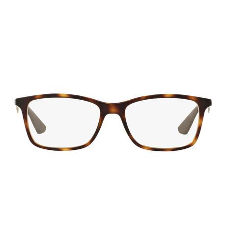Men's Rectangle Optical Frame // Matte Havana