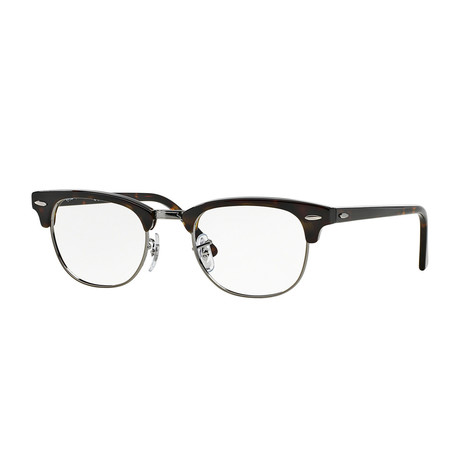 Ray-Ban // Men's Clubmaster Optical Frames // Dark Havana + Silver