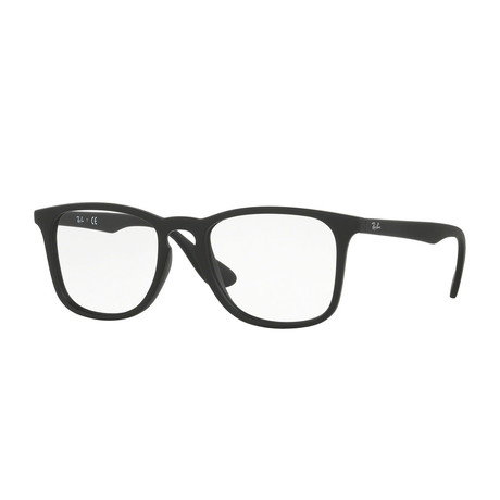 Men's Square Optical Frame // Matte Black