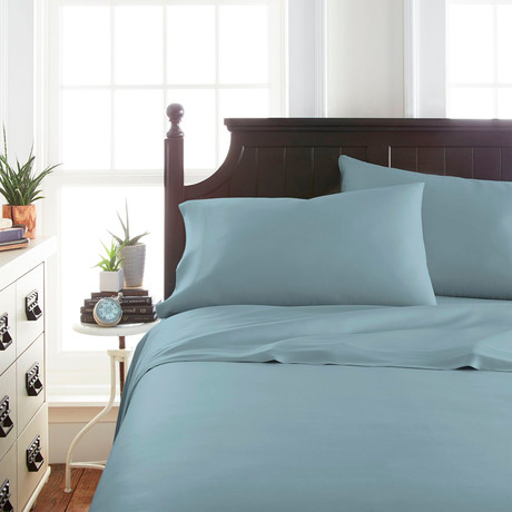 Signature Bamboo Collection Sheet Set // Light Blue (Twin)