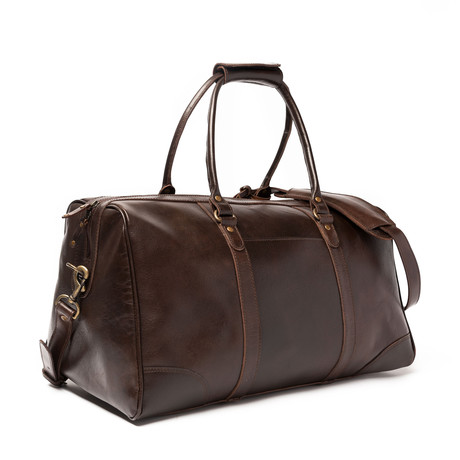 "Tourist Leather Duffel Bag 19.5"" // Antique Brown"