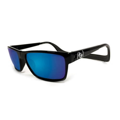 Unisex Monix Polarized Sunglasses II // Black Gloss + Tahoe Blue