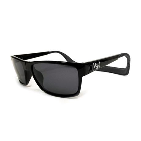 Unisex Monix Polarized Sunglasses // Carbon Fiber + Gray