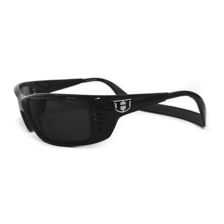 Unisex Meal Ticket Polarized Sunglasses // Black Gloss + Gray