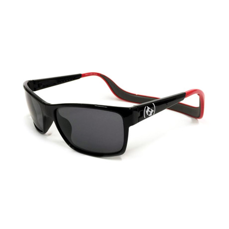 Unisex Monix Polarized Sunglasses II // Red Gloss + Gray