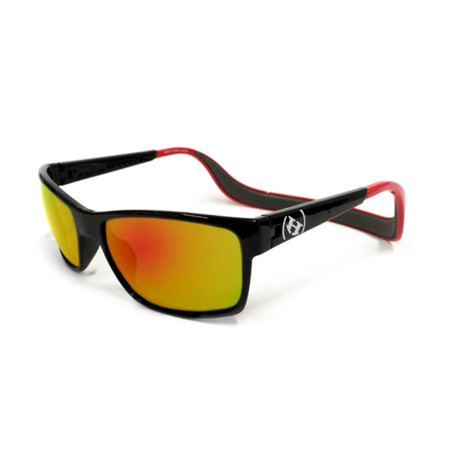 Unisex Monix Polarized Sunglasses // Red Gloss + Fire Chrome
