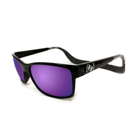 Unisex Monix Polarized Sunglasses // Black Tortoise + Chrome Purple Haze