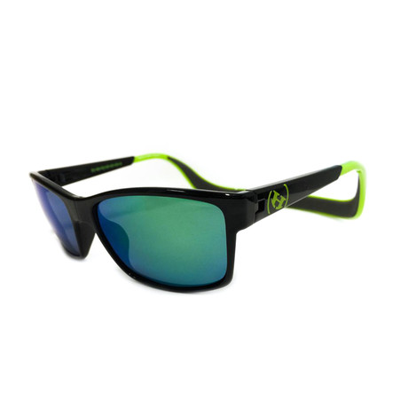 Unisex Monix Polarized Sunglasses // Electric Green + Green Chrome