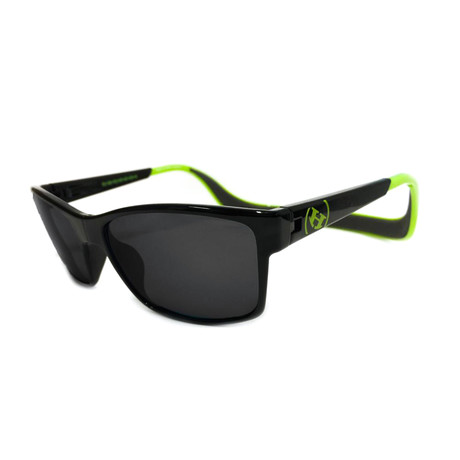 Unisex Monix Polarized Sunglasses // Electric Green + Gray