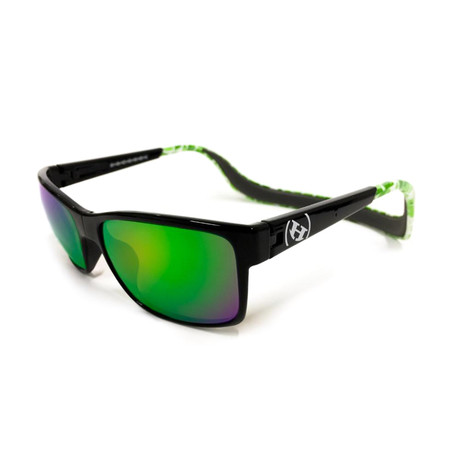 Unisex Monix Polarized Sunglasses // Green Tortoise + Gray