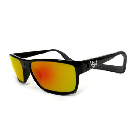 Unisex Monix Polarized Sunglasses // Carbon Fiber + Fire Chrome