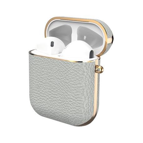 GAZE Leather AirPods Case V1 // Light Gray