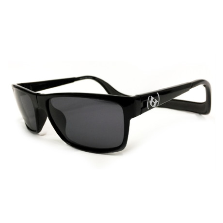 Unisex Monix Polarized Sunglasses // Black Matte + Gray