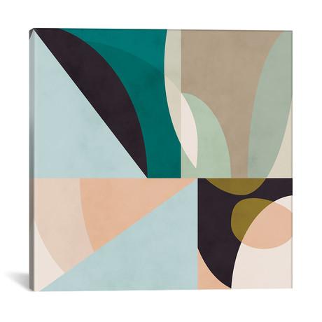 """Shapes Geometric Art Mid Century II // Ana Rut Bré (12""""W x 12""""H x 0.75""""D)"""