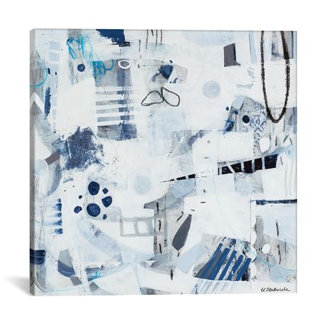 "Blue Backpack // Ulyana Stebelska (12""W x 12""H x 0.75""D)"