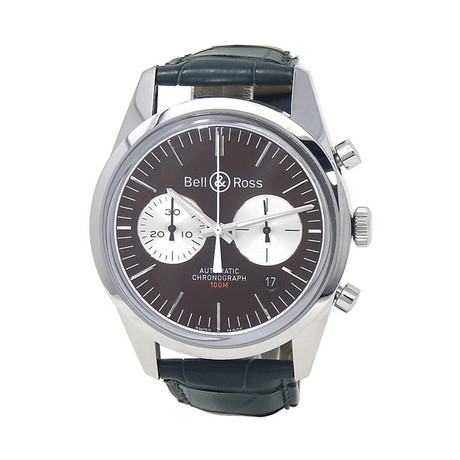 Bell & Ross Vintage Officer Chronograph Automatic // BRG126-BRN-ST/SCRS