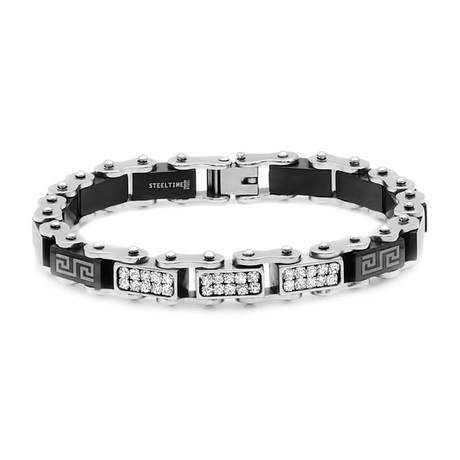 Two-Tone Link Bracelet // Black + Metallic