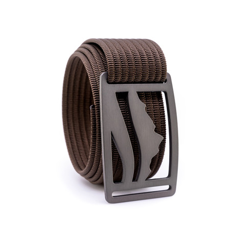 Wasatch Gunmetal Belt // Mocha (28)