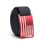 USA Red Flag Belt // Navy (44)