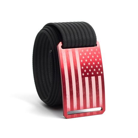 USA Red Flag Belt // Black (28)