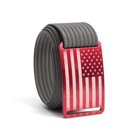 USA Red Flag Belt // Gray (28)
