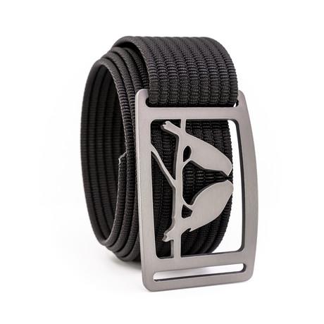 Kestrel Gunmetal Belt // Black (28)