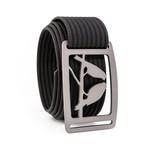 Kestrel Gunmetal Belt // Black (34)