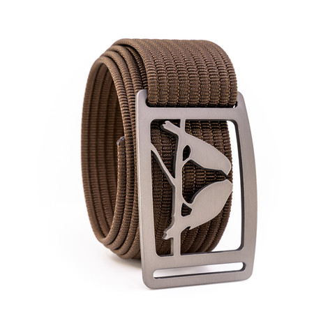 Kestrel Gunmetal Belt // Mocha (28)