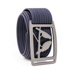 Kestrel Gunmetal Belt // Navy (34)