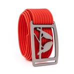 Kestrel Gunmetal Belt // Red (30)