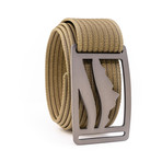 Wasatch Gunmetal Belt // Khaki (30)