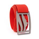 Wasatch Gunmetal Belt // Red (44)