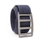 Vert Gunmetal Belt // Navy (34)
