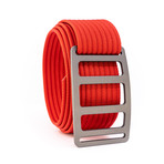 Vert Gunmetal Belt // Red (40)