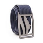 Wasatch Gunmetal Belt // Navy (32)