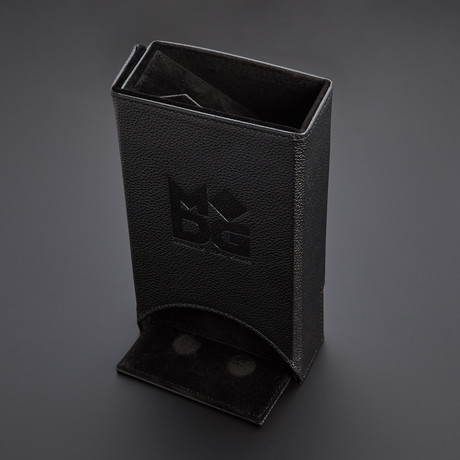 Fold Up Leather Dice Tower (Red)