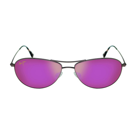 Maui Jim // Men's Baby Beach Polarized Aviator Sunglasses // Gold + Sunrise Mirror