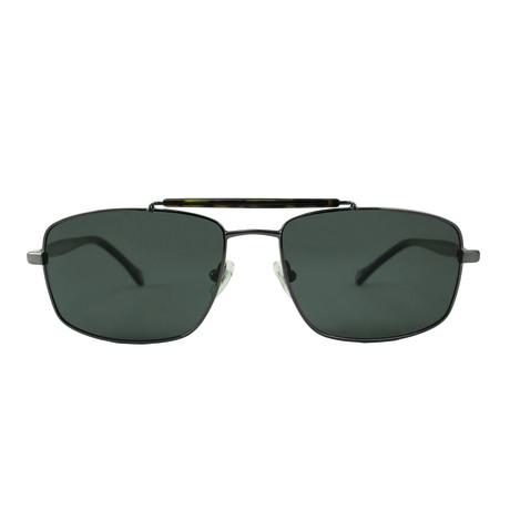 Fossil // Men's Polarized Barry Sunglasses // Gunmetal + Gray