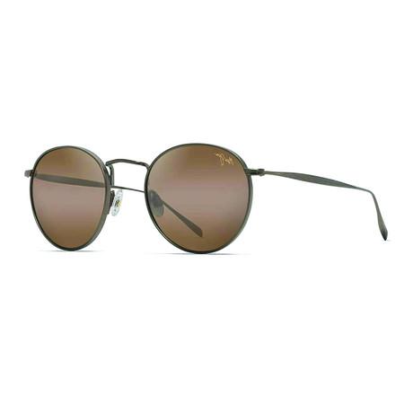 Maui Jim // Men's Nautilus Classic Round Sunglasses // Antique Bronze + Bronze