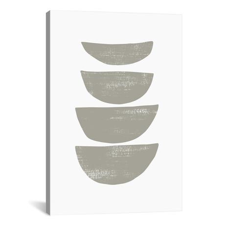 """Abstraction IV Gray // Nouveau Prints (12""""W x 18""""H x 0.75""""D)"""