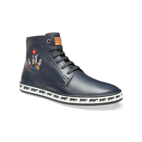 Alpistar Leather High-Top Sneakers // Blue (US: 11)
